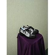 Кожанные комбинированные ботинки фото