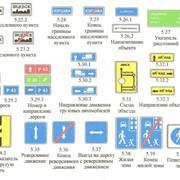 Информационные знаки автомобильные фото
