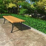 Скамейка садовая двухстоечная фото