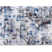 Стрейч - котон рубашечный Турция Газета (голубой) стрейч (арт. 12180) фото