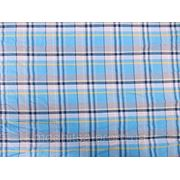 Рубашка Турция Клетка (голубой с синей полосой) (арт. 12177) фото