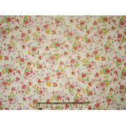 Ткань х\б отрез 46х50 (мелкоцвет розовый-желтый) фото