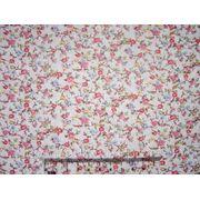 Ткань х\б отрез 46х50 (мелкоцвет розовый) фото