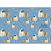 Альбом для рисования 20л А4,скрепка,мелов.карт. Королевские коты А201823 фото