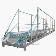 Трап-сходня алюминиевая с эвольвентными ступенями ТСА - 15х600 фото