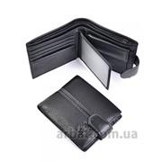 Мужское портмоне B004-802 Black кожа фото