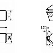 Резцы сборные проходные с механическим креплением прямоугольной вставки с режущим элементом из АСПК («Карбонадо») ИС-308; ИС-307 фото