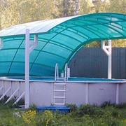 Навесы над бассейнами и павильоны фото