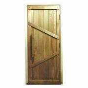Дверь из дуба ласточка, глухая, с дверным блоком фото