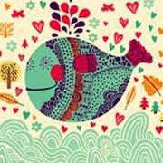 Салфетки цветные Золотая рыбка фото