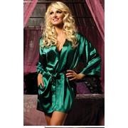 Сексуальный зеленый халат фото
