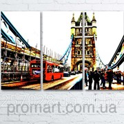 Модульна картина на полотні Лондонський Тауер Брідж код КМ6090-078 фото
