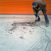 Демонтаж цементно-песчаной стяжки до 50 мм