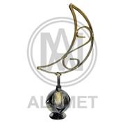 Изделие из металла полумесяц декор с основанием шар №2, артикул 13477 фото