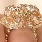 Кольца с кристаллами Сваровски 010214 фото