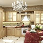 Кухня Лигурия. Цвет Яблоня марбелла, патина золото фото