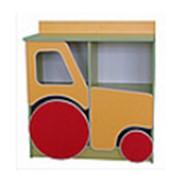 Стеллаж для пособий и игрушек Трактор фото