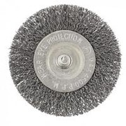 Сибртех Щетка для дрели, 75 мм, плоская со шпилькой, витая проволока Сибртех фото