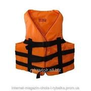 Спасательный жилет оранжевый, водный страховочный жилет фото