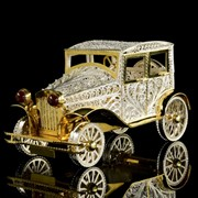 Скульптура-шкатулка Автомобиль (серебро 925) фото