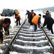 Ремонт и техническое обслуживание железнодорожных путей фото