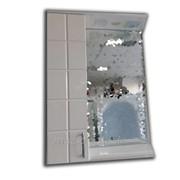 Шкафчик с зеркалом белый домино Артикул 44.98 фото