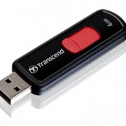 4Gb JetFlash 500 Transcend USB-флеш накопитель, USB 2.0, TS4GJF500, Чёрно-красный фото