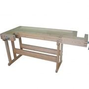 Верстак столярный деревянный из древисины сосны с усиленным подверстачьем фото