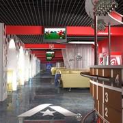 Дизайн интерьера спортивного кафе фото