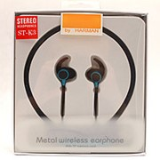 Беспроводные металлические наушники Wireless ST-K3 Blue фото