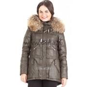 Куртка с мехом Mishele 9515 хаки фото
