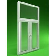 Двухстворчатое пластиковое окно с фрамугой