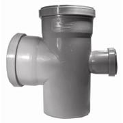 Крестовина ПП для внутренней канализации 90гр 50х50х50 фото