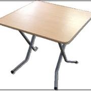 Квадратные столы из ДСП, тип ног - ривьера фото