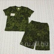 Костюм детский футболка+удл. Шорты 3605-к кулирная гладь, размер 60-116 фото