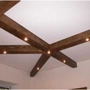 Балки деревянные стилизованные фото