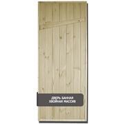 Дверь банная из массива сосны фото