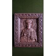 Икона резная Св. Николай Мирликийский Чудотворец фото
