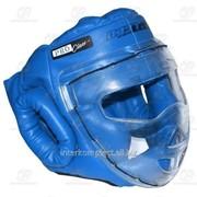 Шлем-маска для рукопашного боя синяя Pro разм. S фото