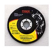 Круг лепестковый веерный Tiger Abrasive 125/22 zirconlum 60 фото