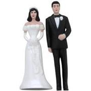 Свадебная фигурка для торта Жених и Невеста 13см фото