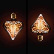 Лампа накаливания E27 40W сердце прозрачное 2740-H фото