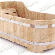 Ванна из лиственницы (h80-65/78*170/4,5 см)