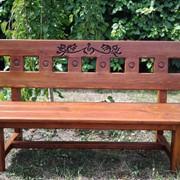 Скамейка деревянная фото
