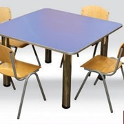 Стол детский квадратный 4-местный со стульями 0242 фото