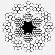 Канат двойной свивки конструкции 12х7(1+6)+6х19(1+6+6/6) +о.с. ГОСТ 16828 фото