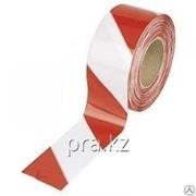 Лента сигнальная 200 м красный с белым фото