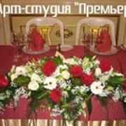 Оформление цветами, услуги флористов фото