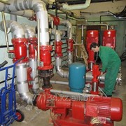 Монтаж и обслуживание систем водяного и газового пожаротушения фото