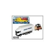 Машинка Scania Warehouse с погрузчиком 1:48 фото